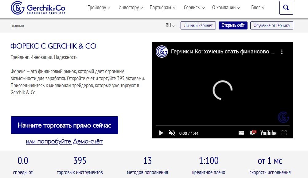 Gerchik & Co, gerchikco.com - какие отзывы о форекс брокере?