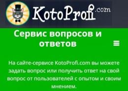 kotoprofi.com — что за сайт, он платит или нет, какие отзывы?